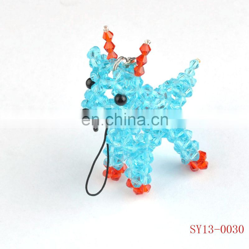 cristal beads weaved animal