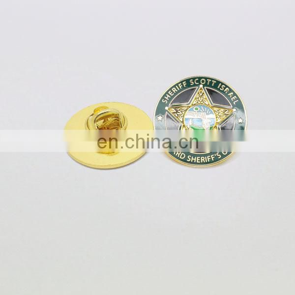 Watch design gold custom metal pin badges maker