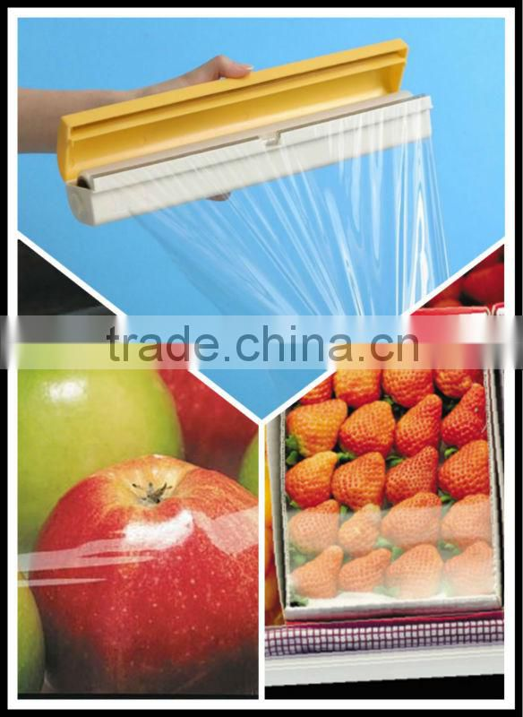 400mm*12micron*500m casting film used for supermarket and hotel food grade pvc cling film plastic packaging film