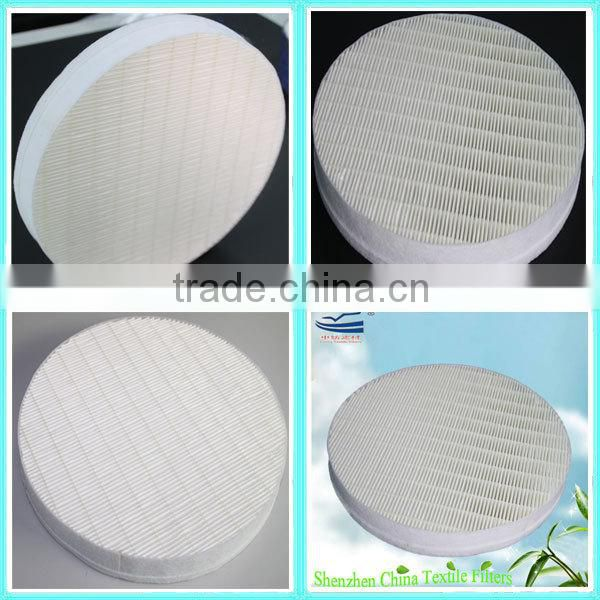 Mini pleated HEPA filter pad/ panel for air purifier