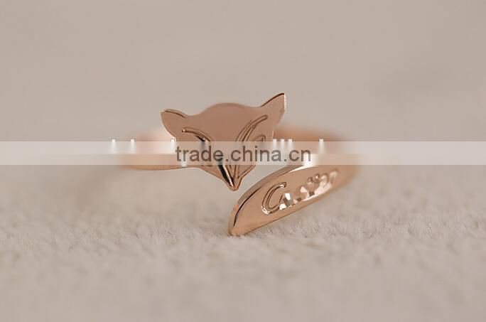 The fox tail ring 14k gold