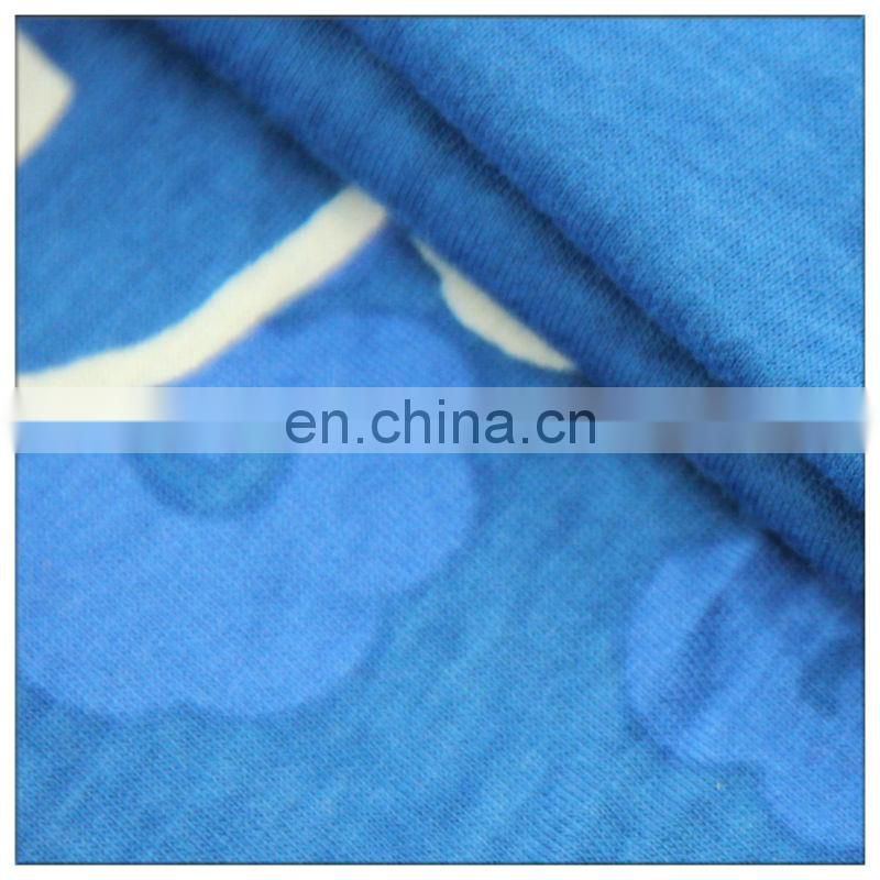 32s cotton jersey fabric cartoon design for making dress