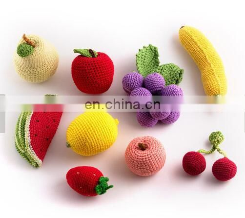 26 Pieces - Crochet toys Fruit and Vegetables and eco-friendly toys, play food kitchen- hand made knitted toy