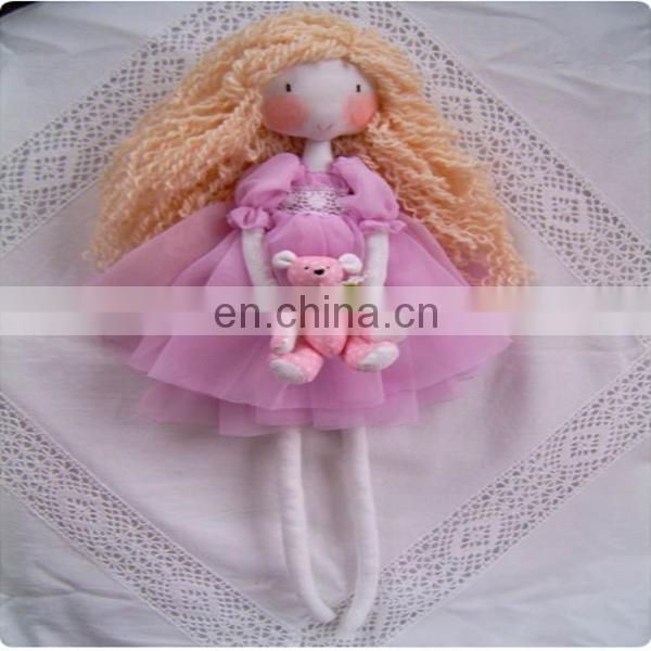 Ballerina rag doll , , soft minky fabric cloth rag doll angelina