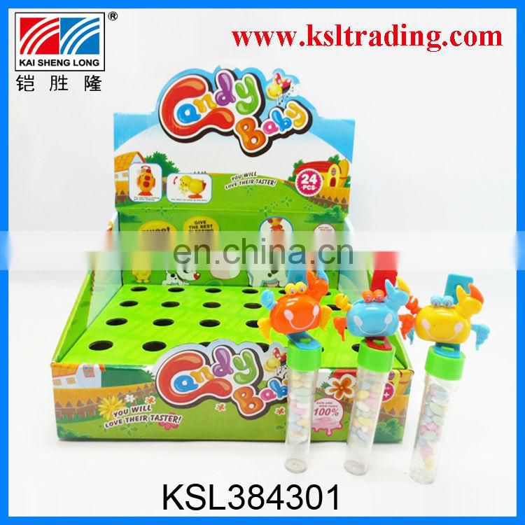 24PCS kids wind up sway animal mice dinosaur candy toys china