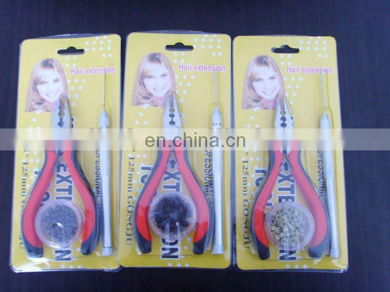 Micro ring hair extension plier and needle kits /professional hair extensions plier