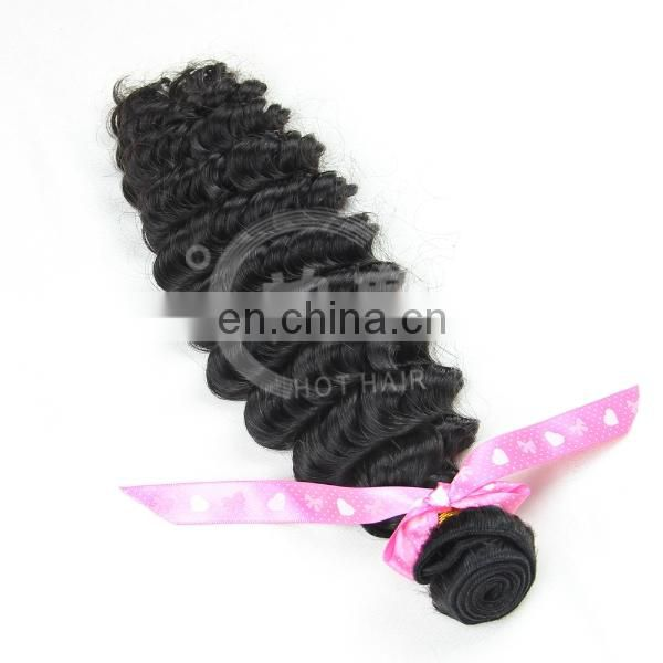 Wholesale 5A 100% Virgin Brazilian Hair Deep Wave Virgin Remy Brazilian Hair Deep Wave With Closure