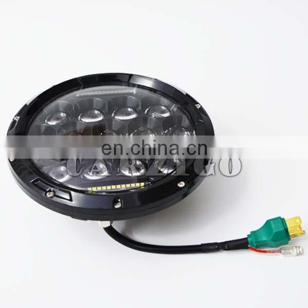 "warm white good quality super power 7"" round 75W LED headlight"