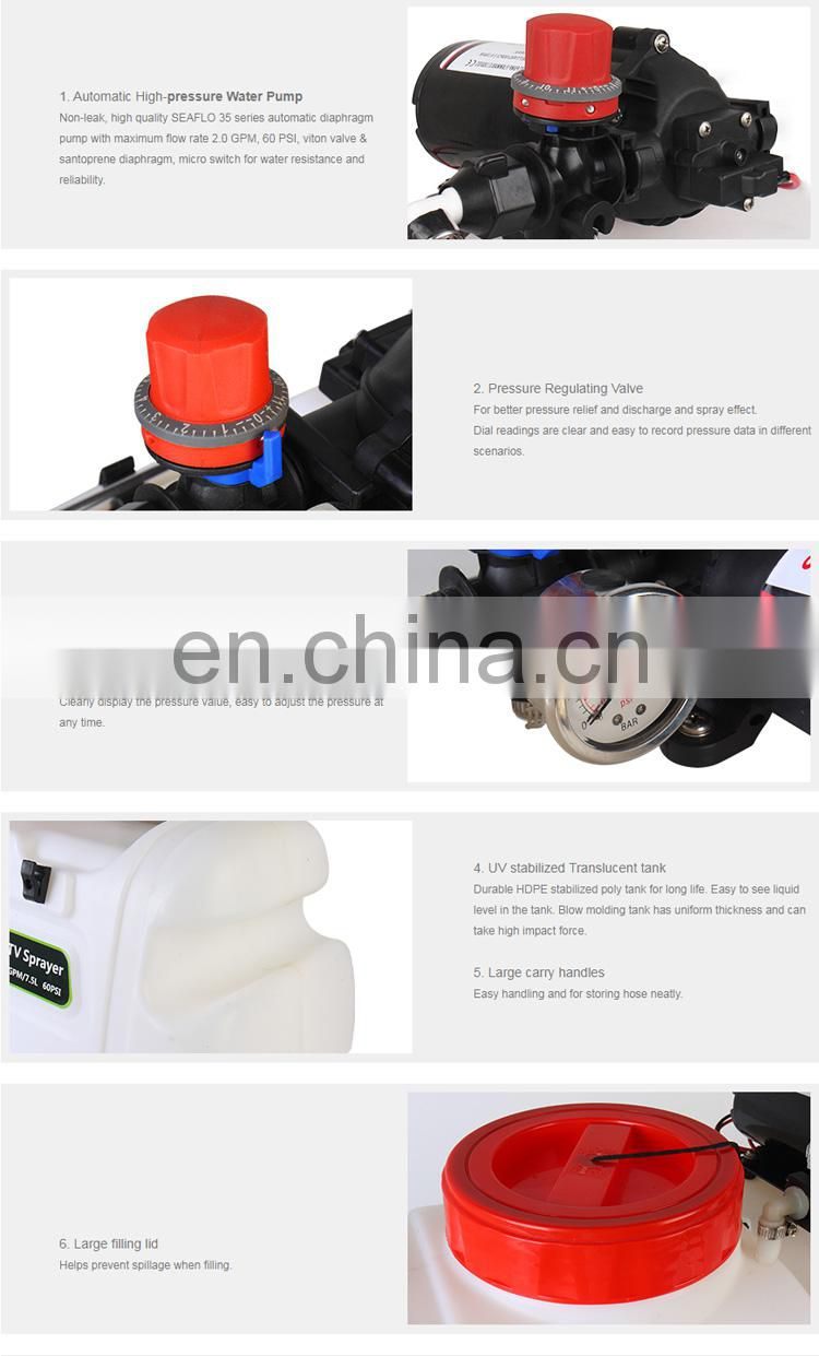 SEAFLO 12V 8LPM Pump 60 PSI 50L Agriculture Sprayer for ATV