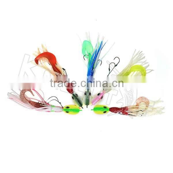 Chentilly CHLP27 factory wholesale lead head jig with plastic skirts and body fishing lure