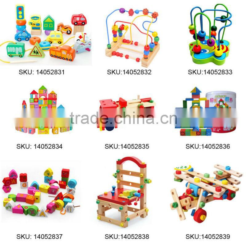 New Colorful Baby Children Wooden Toy Mini Around Beads Wire Maze Educational Game//Random