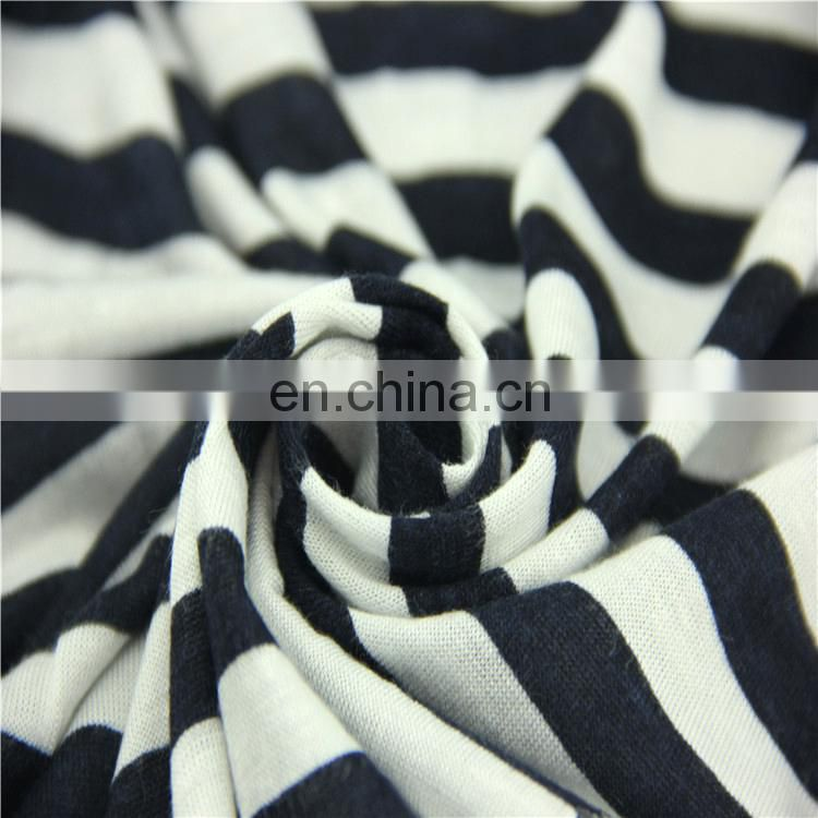 100 rayon blend striped knitted fabric wholesale