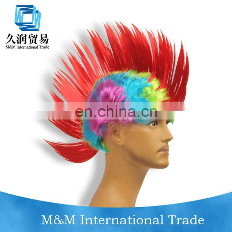 synthetic bright color party wig