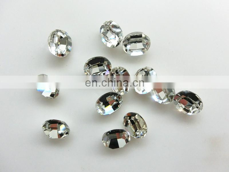 Oval clear fancy crystal parts for chandeliers wholesale low price
