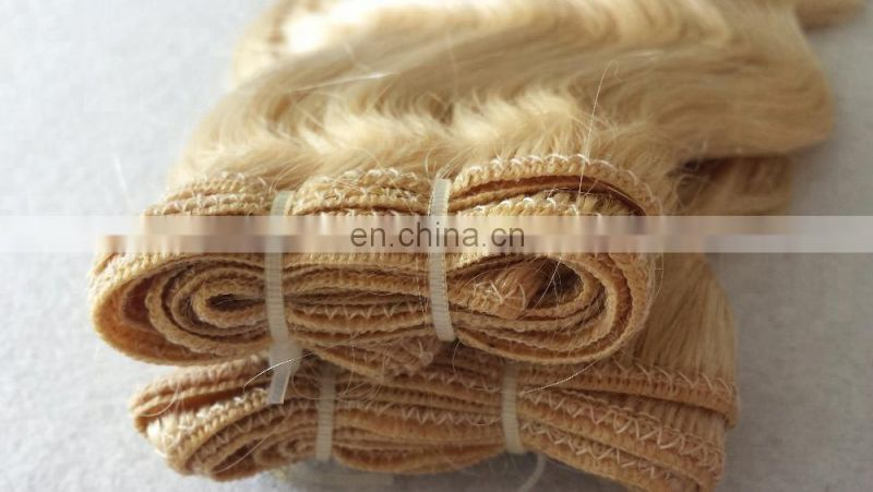100% human hair Fashion Europe Blonde Hair for Women body wave weave hair extensions