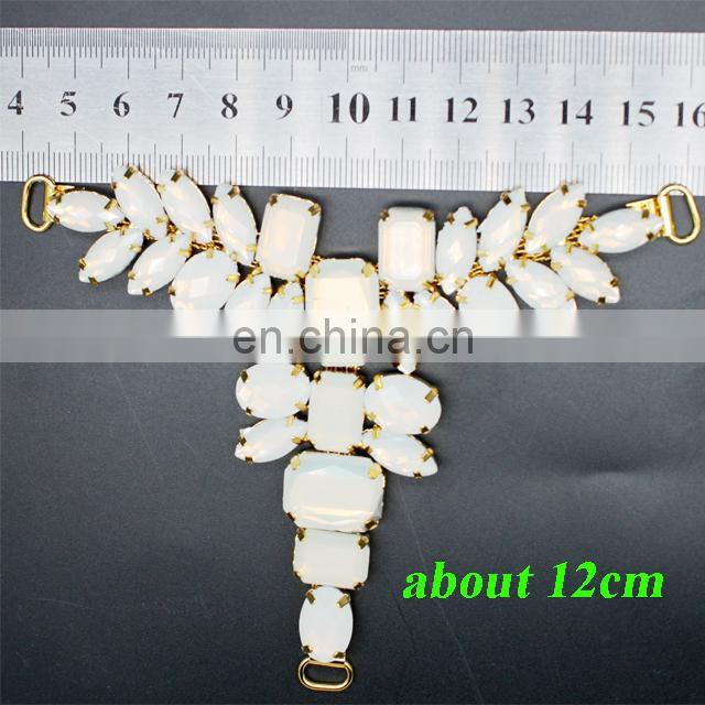 hdt360 new arrival acrylic rhinestone metal sandal ornament shoe chain for lady