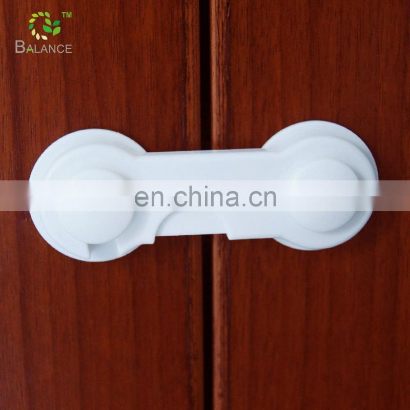 baby kid safety product self- adhesive plastic drawer security  lock for furniture door  6pcs