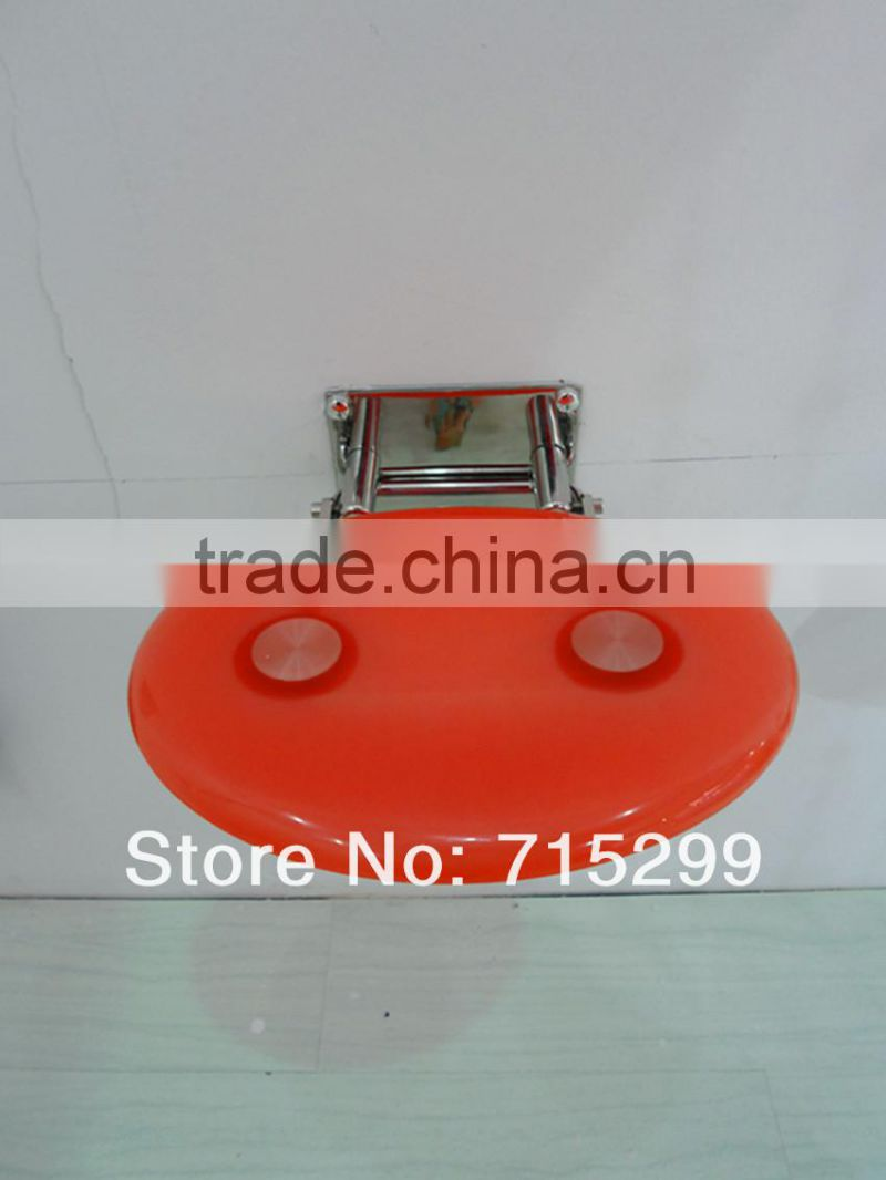 made of high-tech Acrylic seat pad and Stainless steel Shower Toilet Seat