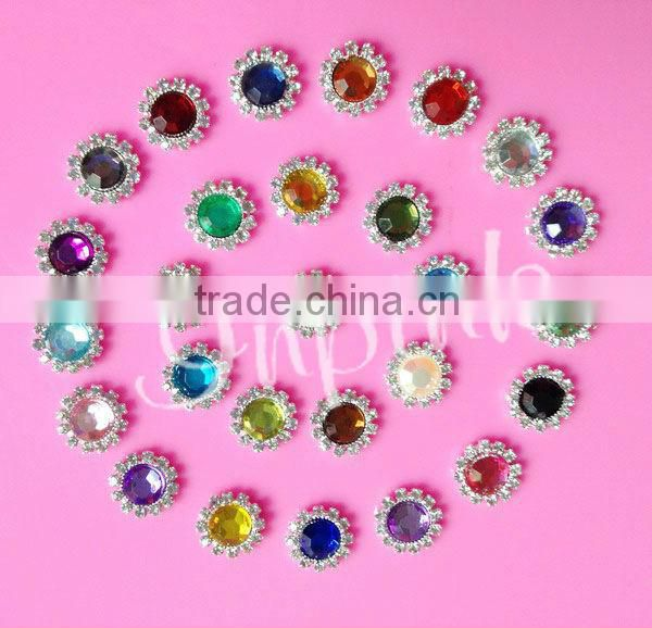 "stock 21*13mm rhinestone Christmas santa hat button slider for ribbon 3/8"" hair bow center(BTN-5393)"