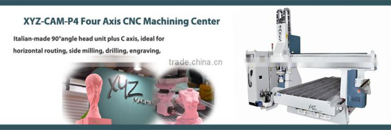 4 Axis CNC Router for 3D model/Mould,props Processing Machine CNC Machining Center XYZ-P4-1325