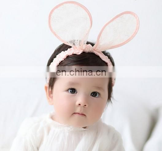 Black Baby Bows Headband With Lace Ears Bows For Baby Girls For Baby Hair Accessories
