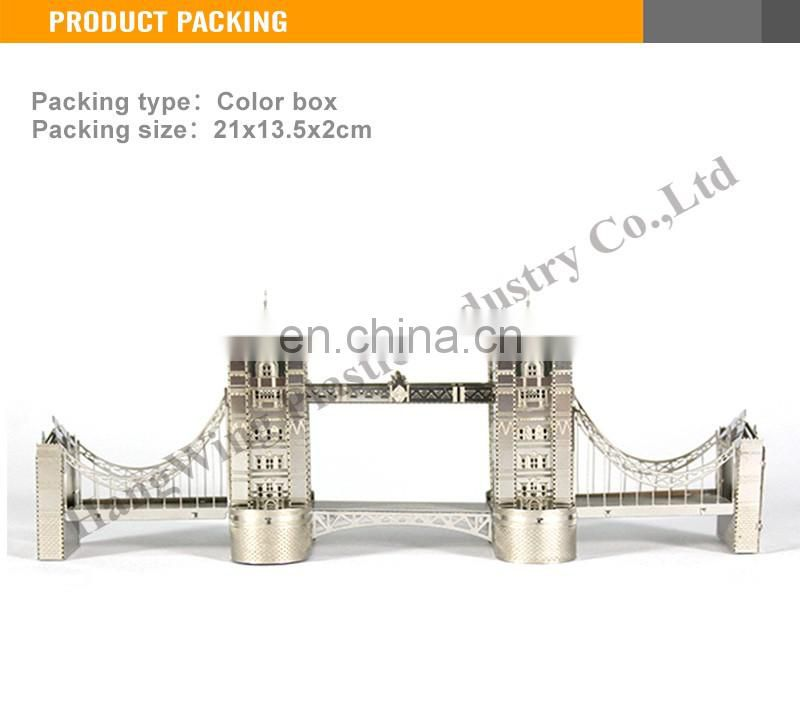 Interesting 3D Metal London Bridge model toy