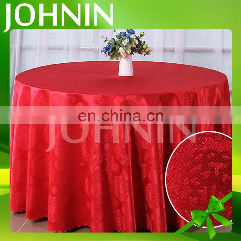 Wholesale Elegant Polyester Cheap Custom Color Jacquard Table Cloth For Hotel Or Restaurant