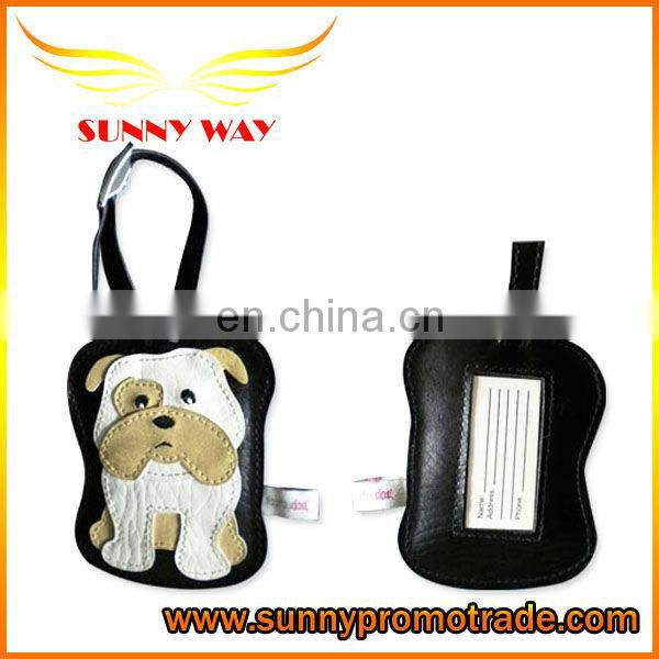 Dog-shaped PU Luggage Tags for Travel