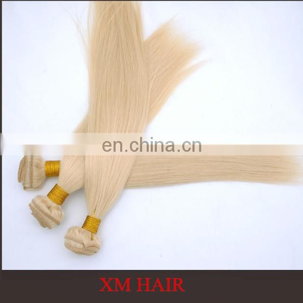 Hotsale Blonde Color 100 European Remy Virgin Human Hair Weft