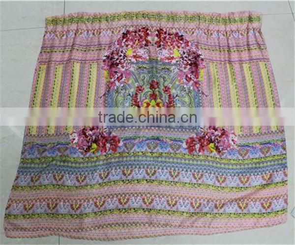 In Stock Silk feel Polyester Printed Scarf