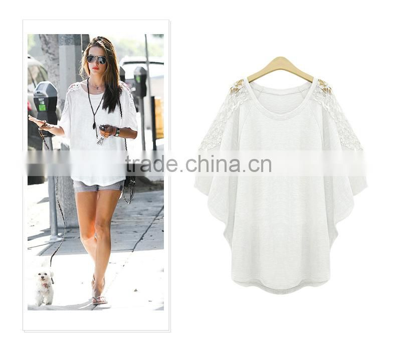 European Fashion Oversize Women Shirts lace up Loose casual blouse tops for women
