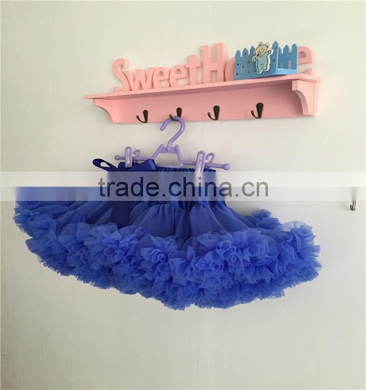 MOQ 1PCS children puffy skirts, royal blue tulle pettiskirts