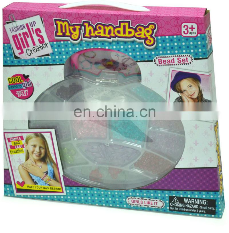 Hot cheap DIY jewellery beads kits/Kids fashion beads jewellery set