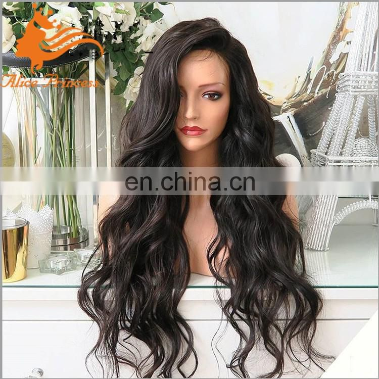 Virgin Brazilian Hair Wigs Loose Wave Human Hair Wigs WIth Natural Hairline Long Hair Lace Front Wigs