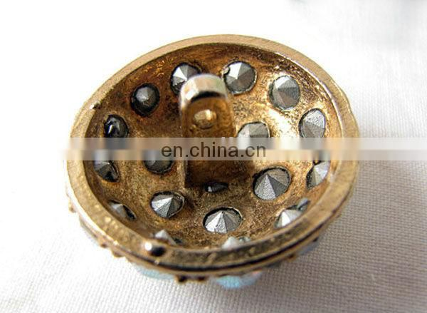 Trendy rhinestone bulk buttons for sale