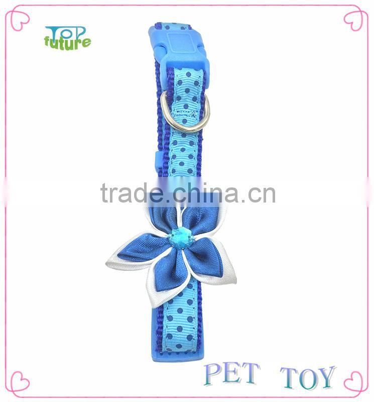 Flower dog collar and retractable dog leash,nylon collars for dog,metal buckles for dog collars
