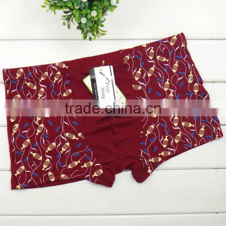 High quality fashion leaves men boyshort sexy factory price wholesale men boxer briefs