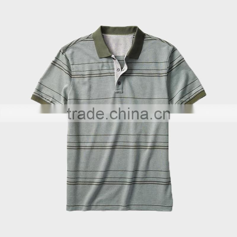 China alibaba wholesale men's stripe navy color short sleeve polo shirt