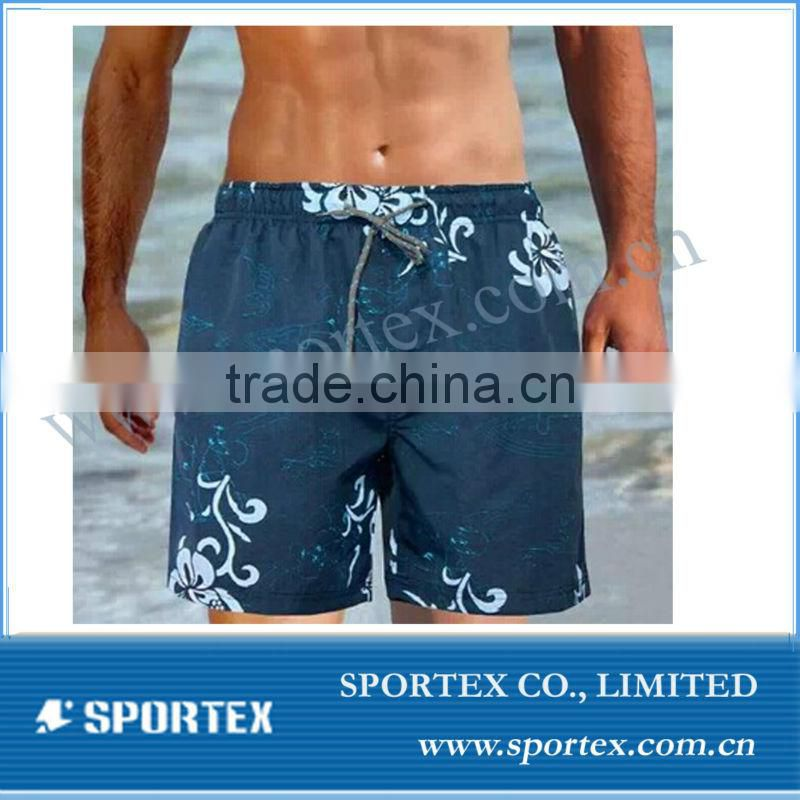 2016 OEM lifestyle printed micro fibre beach shorts , board shorts, swimming shorts BS1413