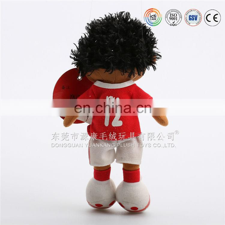 Factory direct sell african and american soccer doll with EN71 standard