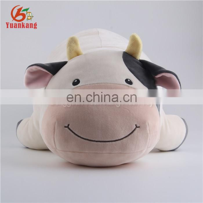 Milka lying pink cow plush pillow toys/free stuffed cow toy pattern for baby