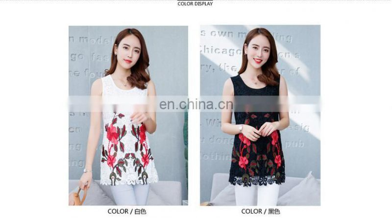 Sexy embroidery lace women tank top wholesale