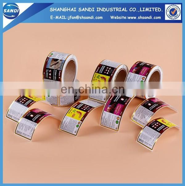 full color printing adhesive paper sticker roll