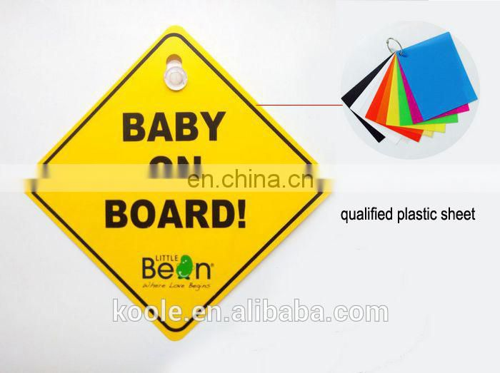 Plastic car window message sign with suction cup