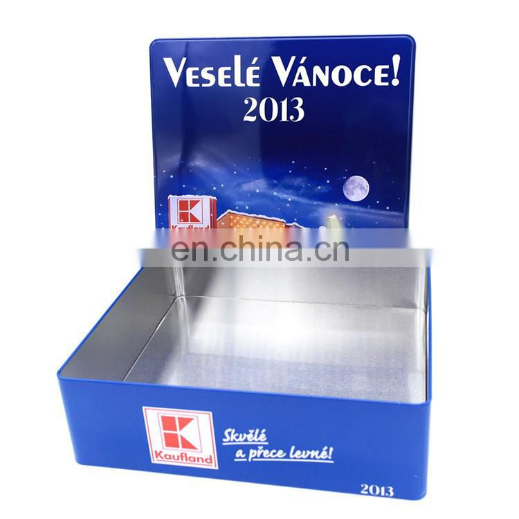 Charmant ... Christmas Large Tin Container, Large Tin Storage Box Oem Order Welcome