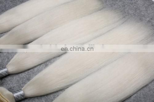 White 7A Double Drawn Premiun White Weft Yak Hair Extension