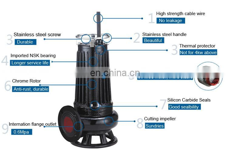 submersible deep well pump cable