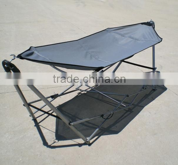 Outdoor portable foldable hammock with stand