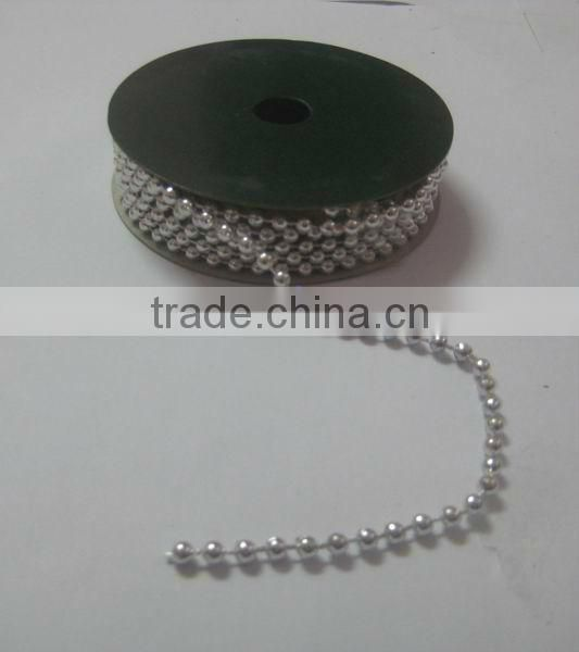 HOT SALE ! Present Wrapping Decorations 1.5mm Metallic Silver Foil Plastic Acrylic Beads String Cord