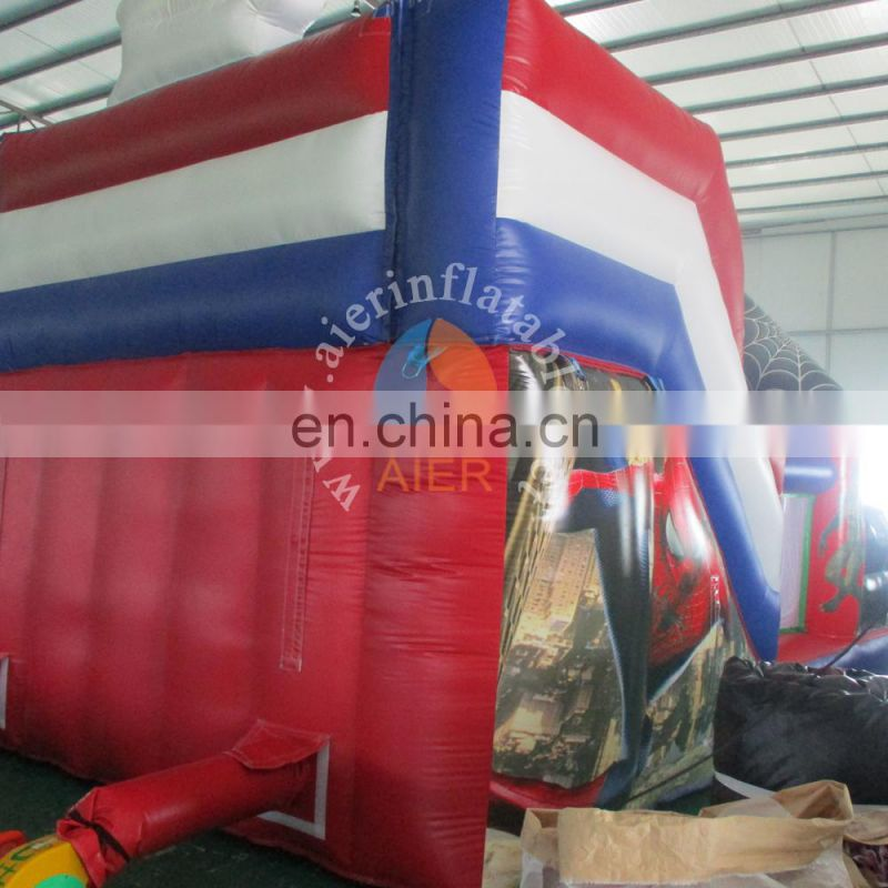 New Design the boy High big inflatable slide for sale,bouncy castle with slide